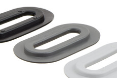 Oval plastic Eyelet, Oval, 13/51 mm