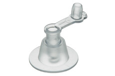 PVC Inflation valve, Free flow, fixed plug, 9 mm inlet