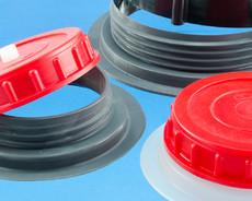 Sätze von Schrabflanschen und Schraubdeckeln im Kunststoff für Hochfrequenzschweißen (HF Schweißen)