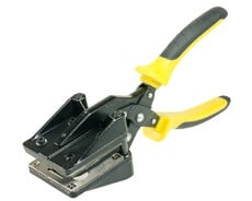 Snap grommet tool for plastic snap grommets and clip grommets