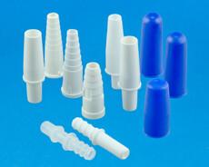 Plastic tube connectors for urine bag