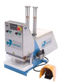 Svejsepresse CP8 til automatisk dobbeltsidet i-svejsning af presenningsringe og sejlringe i plast