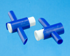 T-Tap valve for draining urine bags