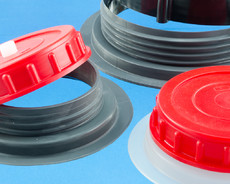 Matching sets of filler flanges and plastic caps