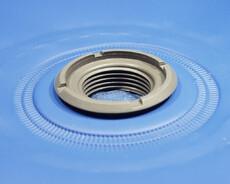 Threaded plastic flange optimized for High Frequency Welding (HF / RF Welding)