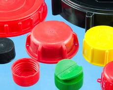 Sprøjtestøbte plastik skruelåg