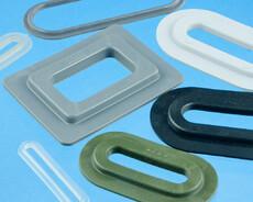Firkantede og ovale plastik ringe og forstærkningsringe