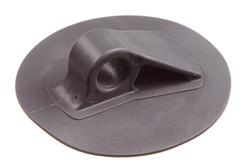 PVC/PUR Leinenhalter, 11/72 mm. HF-schweißbarer PVC/PUR Leinenhalter. Für Seil oder Gummiseil von bis zu 11 mm. 72 mm Rundfuß.