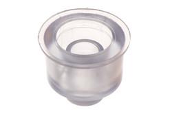 PVC Einsatz für 03-628. Einsatz für schweißbarer, versenkter 25 mm Stutzen, steifend/abdichtend. Für bessere Abdichtung, z. B. als zusätzliche Sicherheitseinrichtung in Wasserbetten.