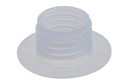 Kunststoff Schraubstutzen, 25 mm. 25 mm Kunststoff Schraubflansch. HF/Ultraschall-schweißbar.