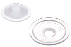 PVC Scheibe für Druckknopf 02-031. PVC Scheibe für Nylon Druckknopf. Kann mit Hilfe von HF- und Ultraschall auf PVC-Blätter geschweißt werden.