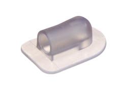 Kunststoff Winkelflansch. Winkelflansch mit sehr niedrigem Profil, schweißbar für Schläuche mit Ø6mm. Enthält ein eingebautes Schlauchende für einfachen Zusammenbau.