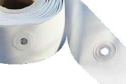 Ösenkanten mit Kunststoffösen. Ösenkanten mit vorgeschweißten Kunststoffösen – Einfach anpassen, Kanten überdecken und schweißen oder einfach nähen!