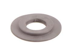 Rundöse, schwer 13/32 mm. 13/32 strapazierfähige Kunststoff Rundöse mit eckigen Flanken. Für Hochfrequenzschweißen und Verwendung in automatischen Maschinen optimiert.