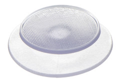 PVC Button 22.7 mm. HF/ultrasonic weldable button for use with raincoats, protective gear or other areas where an easy and inexpensive attachment is needed.