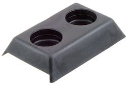 PE Shroud, 2 Holes. Shroud for bolts. For use on curtain side truck trailers