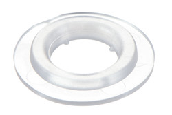 Weldable Plastic Eyelet, Light, 8 mm. 8 mm Plastic eyelet with square shoulders. Optimised for High Frequency (HF) welding.