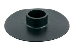 "PVC plastic flange B. HF/ultrasonic weldable flange with 2"" bore. Often used as grommets for 2"" piping in water bags e.g. in rain water recycling systems."