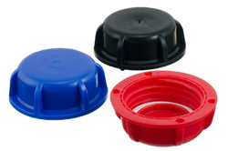 Plastic Screw Cap with gasket for 45 mm nozzle. Cap with built-in gasket